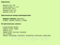 Картридж осушувача повітря II40100F (М39*1,5) KNORR, арт. II40100F