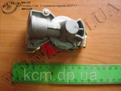 Головка зєднувальна 48014АВ (з клапаном, червона М22*1,5)
