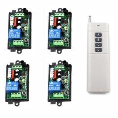 Комплект радио выключателей: 4 выключателя, пульт
