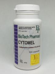 Жиросжигатель Cytomel Liothyronine sodium (T3) 25