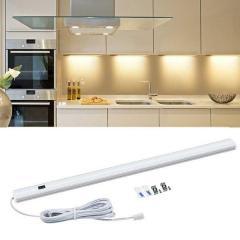 LED светильник 12В длиной 60 см с сенсором на