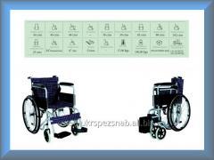 Коляска инвалидная, базовая, без двигателя Golfi