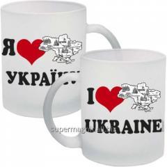 Я люблю Україну. Чашка сувенірна 300мл.