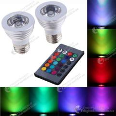 Комплект из двух 16-ти цветных LED лампочек