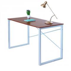 Компьютерный стол Fenster Интеграл Серебро 74x120x60 столешница Коричневая