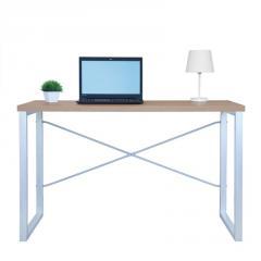 Письменный стол Fenster Интеграл Серебро 75,5x120x60 столешница Дуб сонома