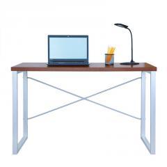 Письменный стол Fenster Интеграл Серебро 75,5x120x60 столешница Коричневая