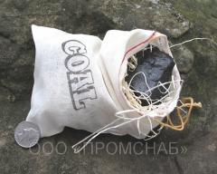 The DG brand coal which (myagkoplamenny) is packed