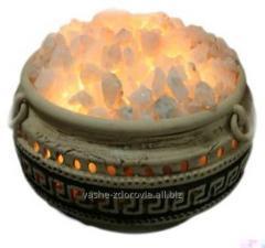 Salt flowerpots and amphoras. Ecodesign, ionizer,