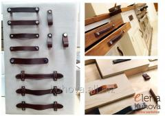 Leather handles for furniture