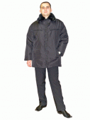 The jacket is warm (fur collar), overalls, the