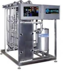 Installation pasteurization and cooling lamellar