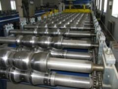 Equipment for production of a metal tile