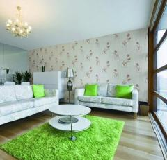 Vinyl wall-paper for a drawing room