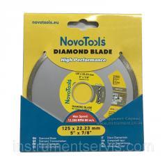 Алмазный круг NovoTools Basic 125 мм*5 мм*22,23 мм