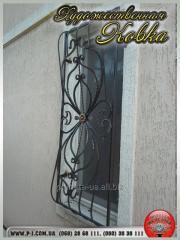 Кованые оконные решетки, решетки на окна с