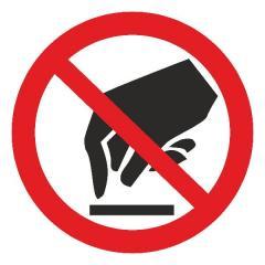 Знак Запрещается прикасаться d-150 мм с-к пленка