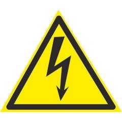 Знак Осторожно ! Электрическое напряжение 150мм