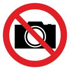 Знак Запрещается фотографировать d-150 мм пластик