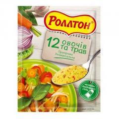Приправа 12 овочів і трав Роллтон універсальна 80г