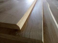 Countertops made of natural solid oak edging c