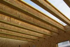 Beams wooden beams made of OSB panels