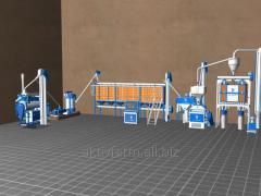 Мукомольный мини завод CK11 - 15 тонн / 24 часа с вертикальным вальцом
