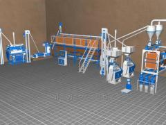 Мукомольный завод СК12 - 30 тонн / 24 часа с вертикальным вальцом