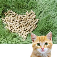 Filler cat litter, wood pellets 6 mm, the color