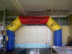Большая надувная арка внутренний размер 6*3 метра