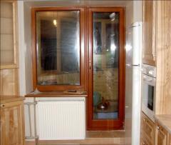 Окна из трехслойного бруса сосны купить у