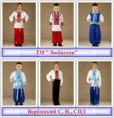Одежда детская национальная украинская вышитая
