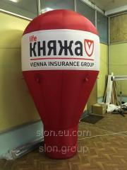 Рекламный надувной шар на тумбе 3м