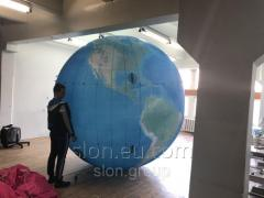 Надувной шар планета Земля 3м
