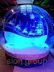Чудо шар прозрачная полусфера фотозона Snow...