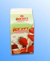 Йогурты молочные. Йогурт
