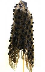 Шаль из меха - меховая шаль коричневая. Коричневый