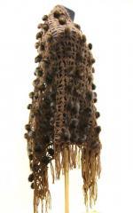 Шаль из меха - меховая шаль коричневая. Темно