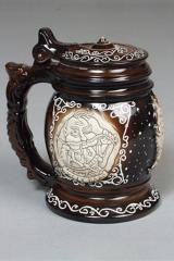 The Big-bellied beer mug with a cover, ceramics