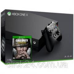Игровая приставка Microsoft Xbox One X 1TB + Call