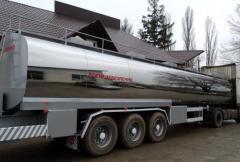 The semi-trailer - the tank
