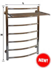 Лестница с полкой ө 33, ө 20 нержавеющая сталь