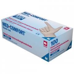 Перчатки латексные без пудры Ampri MED COMFORT