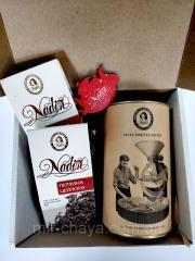 Подарочный набор чайно-кофейный ЧЕРНЫЙ ЧАЙ Ко Дню
