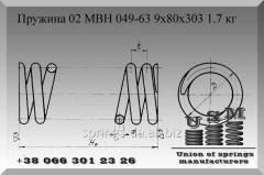 Изготовление пружин. Пружина 02 МВН 049-63