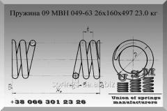 Изготовление пружин. Пружина 09 МВН 049-63