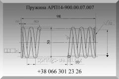 Изготовление пружин электровоза АРП14