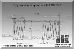 Изготовление пружин электровоза чертеж 8ТН.281.242