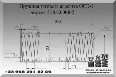 Изготовление пружин тягового агрегата ОПЭ-1 чертеж