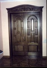 Doors are wooden carved